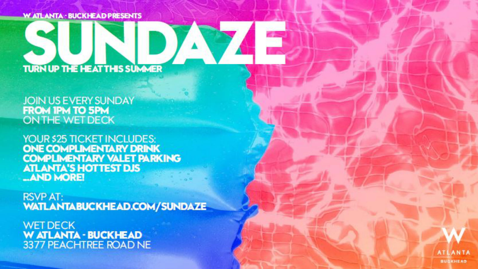 Sundaze Pool Party at W Atlanta - Buckhead
